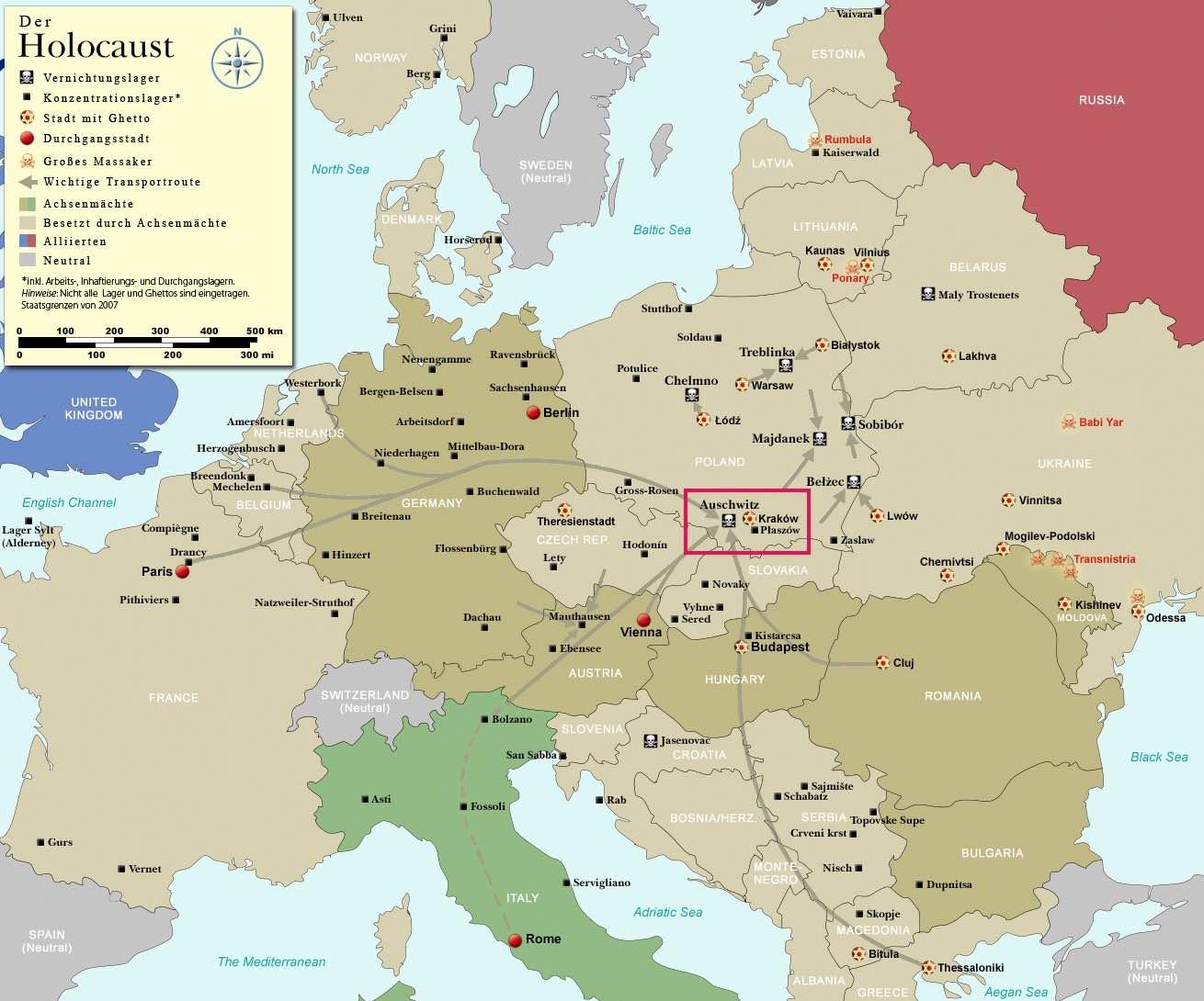 Где находился холокост