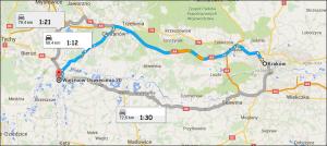 Krakow to Auschwitz Distance how far is it