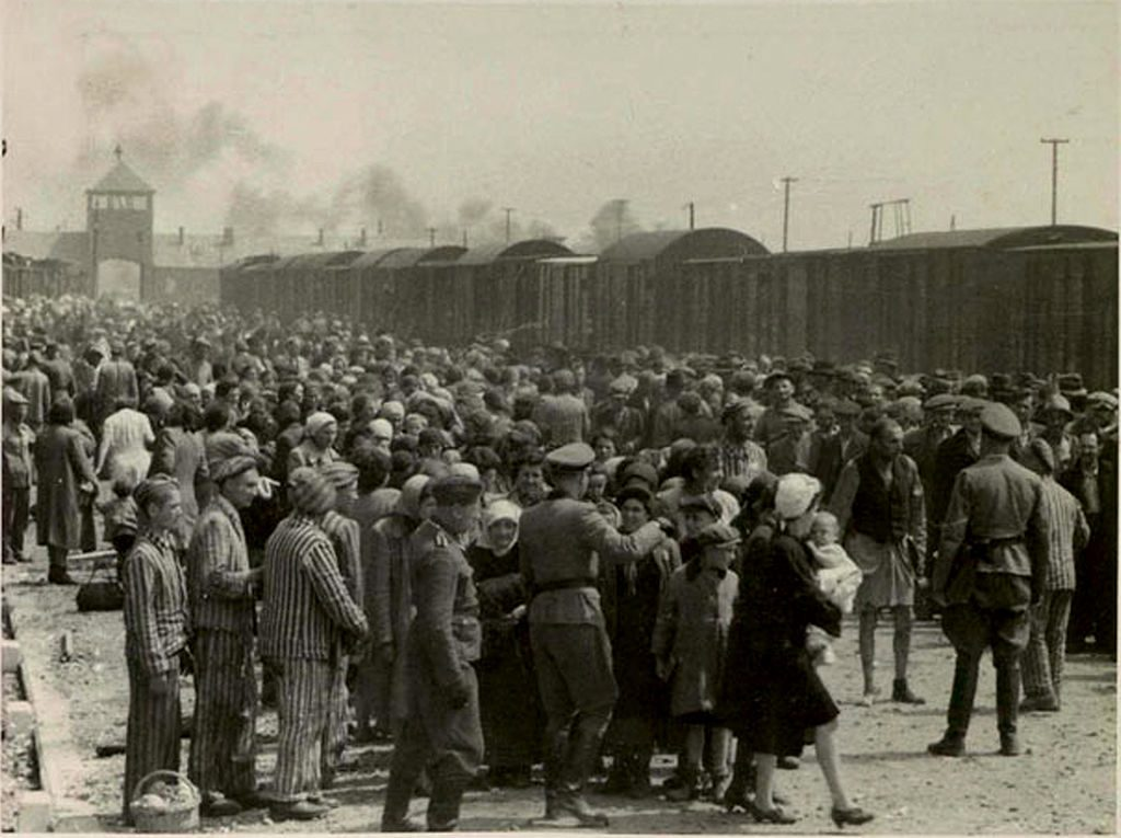 Auschwitz Birkenau shocking pictures inmate selection