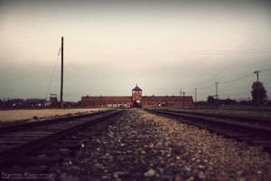 Auschwitz Death Gate Birkenau today now