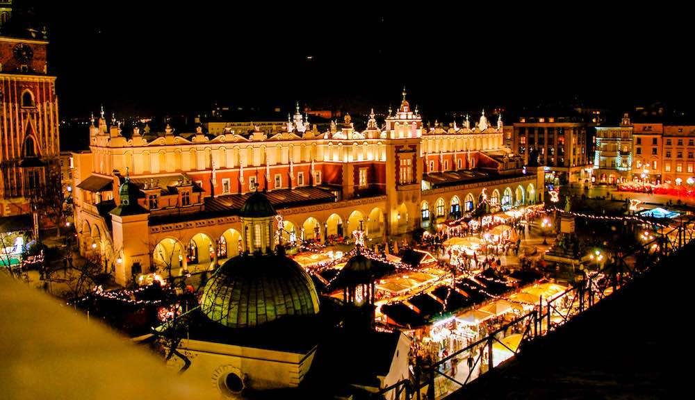 Krakow Christmas Market on December And Christmas