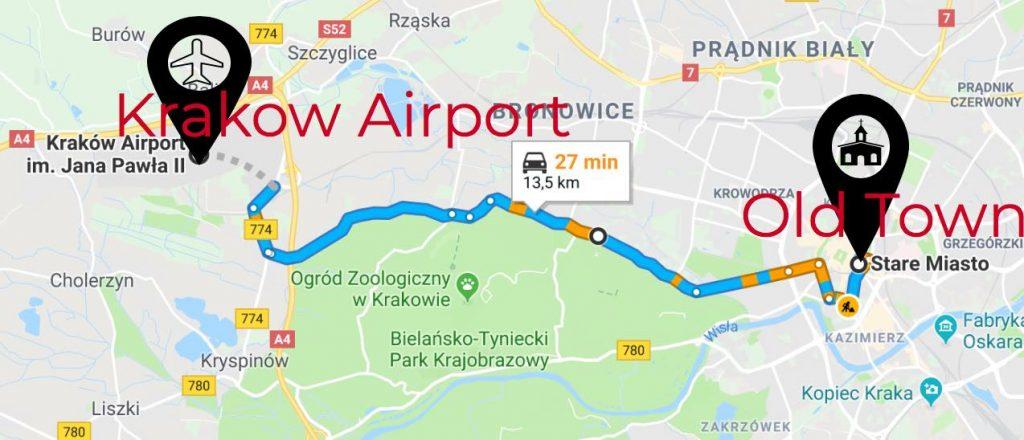 Krakow-airport-to-oldtown