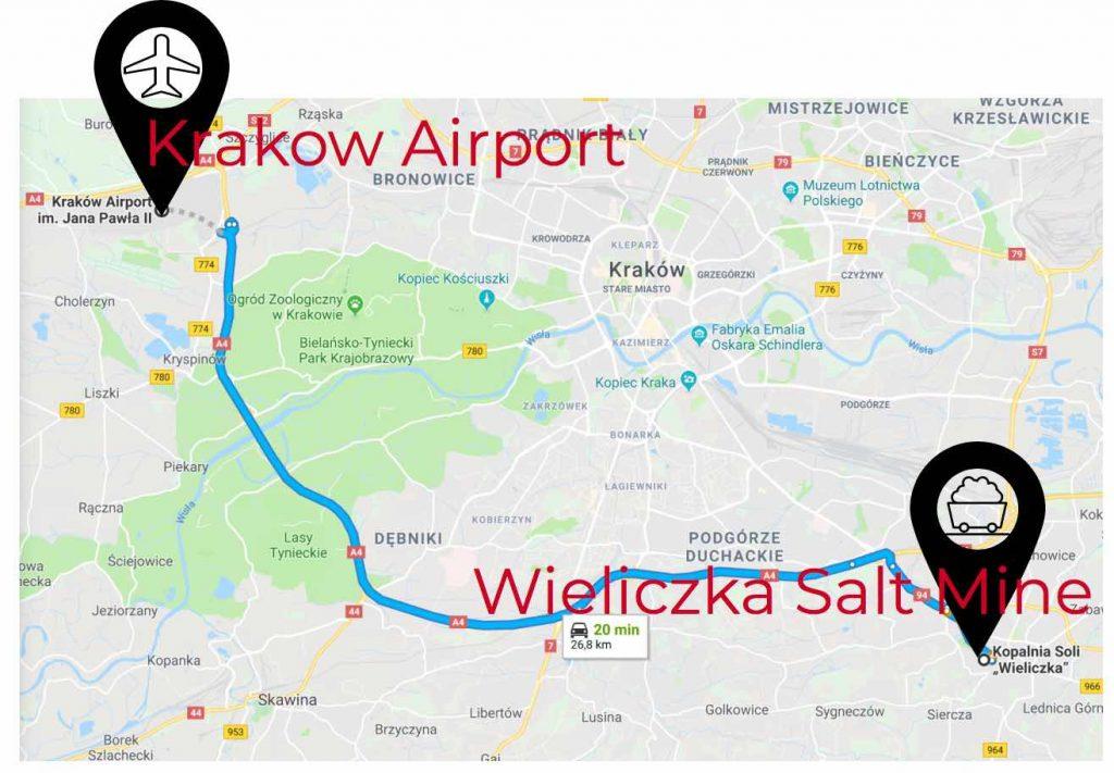 krakow-airport-to-saltmine