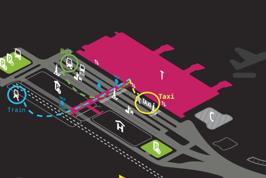 krakow-airport-map