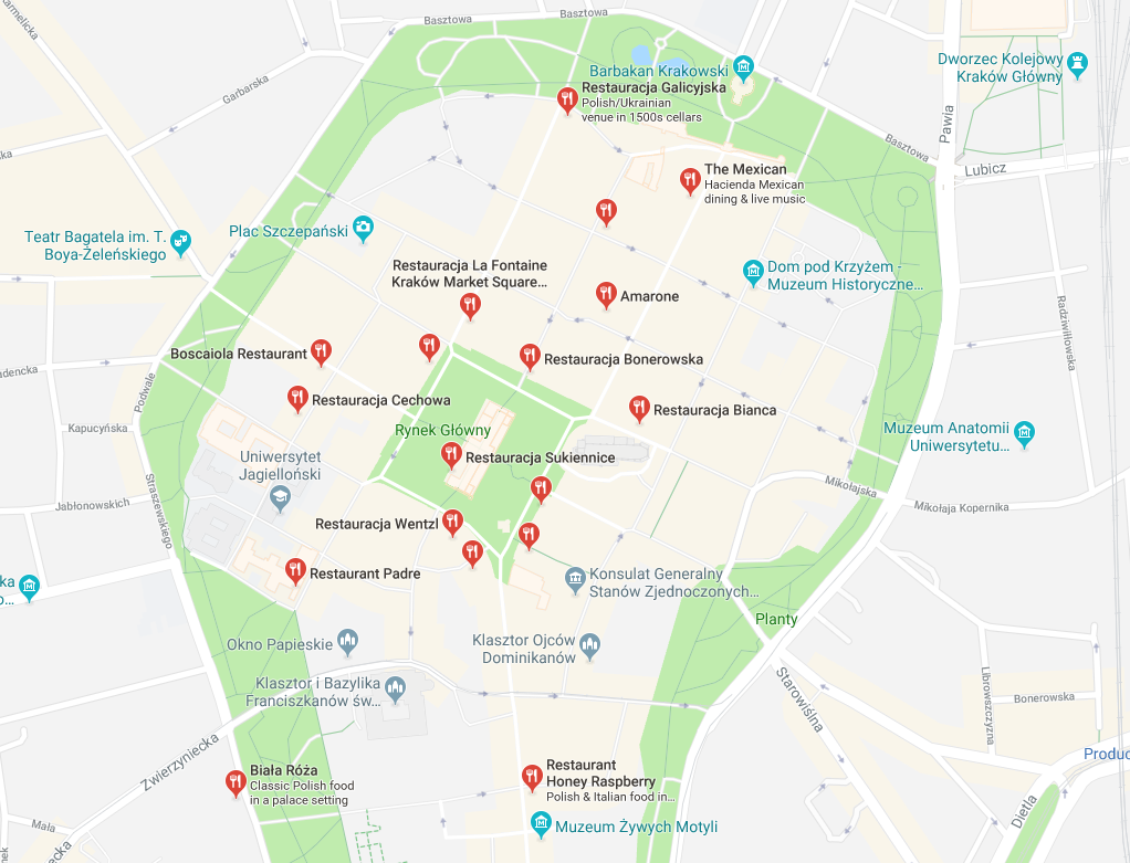 restaurants in krakow