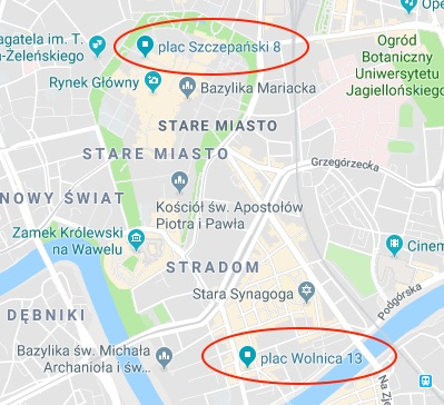 Discover Cracow meeting Points