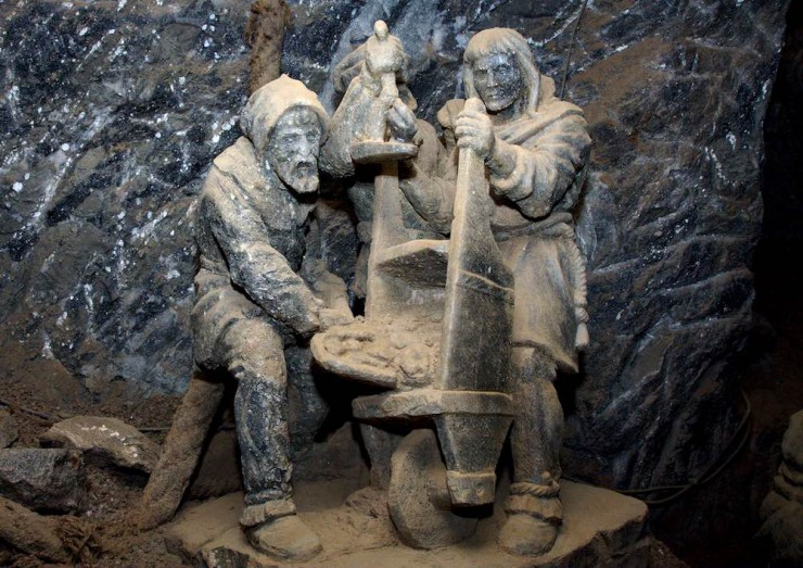 Bochnia Salt Mine sculpture