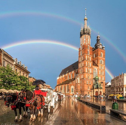 krakow-old-town-rainbow